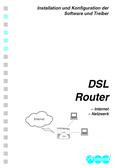 Titelbild Installation und Konfiguration der Software und Treiber, DSL Router, Auerswald COMpact 4406 DSL