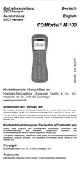 Titelbild Inbetriebnahmeanleitung Auerswald COMfortel M-100