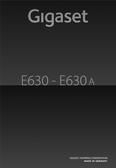Titelbild Bedienungsanleitung: Gigaset E630A