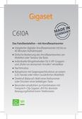 Titelbild Messekärtchen: Gigaset C610A