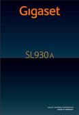 Titelbild Bedienungsanleitung: Gigaset SL930A
