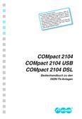 Titelbild Installations- und Bedienhandbuch Auerswald COMpact 2104 DSL
