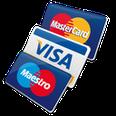 Credit cards (Mastercard, Visa, Maestro and Pagobancomat)