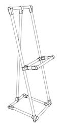 Наклонная подставка из металлической трубы и соединителей UNO и JOKER