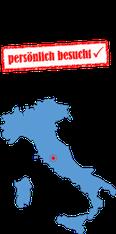 Italienkarte mit Stempel