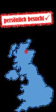 Karte Großbritannien
