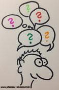 Frage offene Frage rhetorische Frage