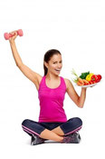 balancing food and fitness for health
