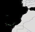 Karte zur Verbreitung des Kanarenpiepers.