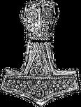 Thorshammer oder Mjöllnir-Amulett