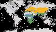 Karte zur Verbreitung der Familie der Wiedehopfe (Upupidae)