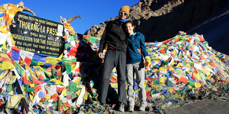 Nous voila au fameux Thorung La Pass à 5 416 m d'altitude