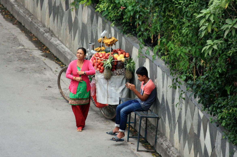 Vendeurs de rue de fruits