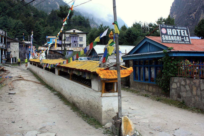 Encore des moulins à prières - Naya Bazar dans le district de Chame