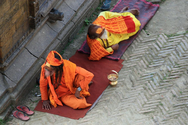 Sick hindou - Pashupatinath - Katmandou