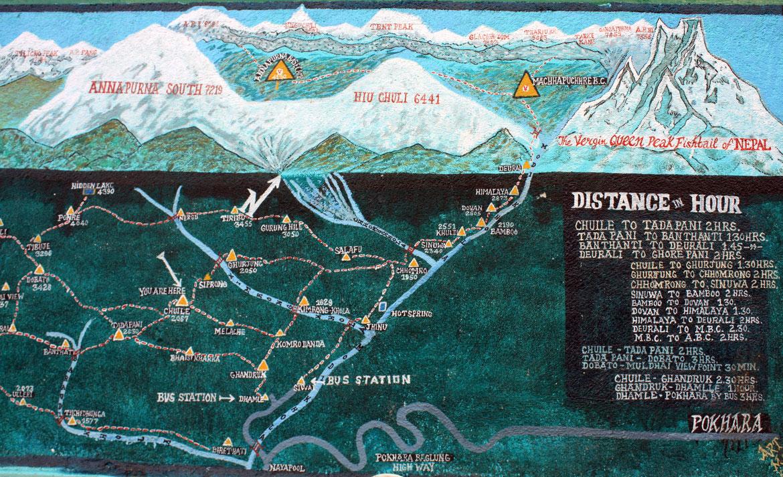 Carte et distances autour de Chuile