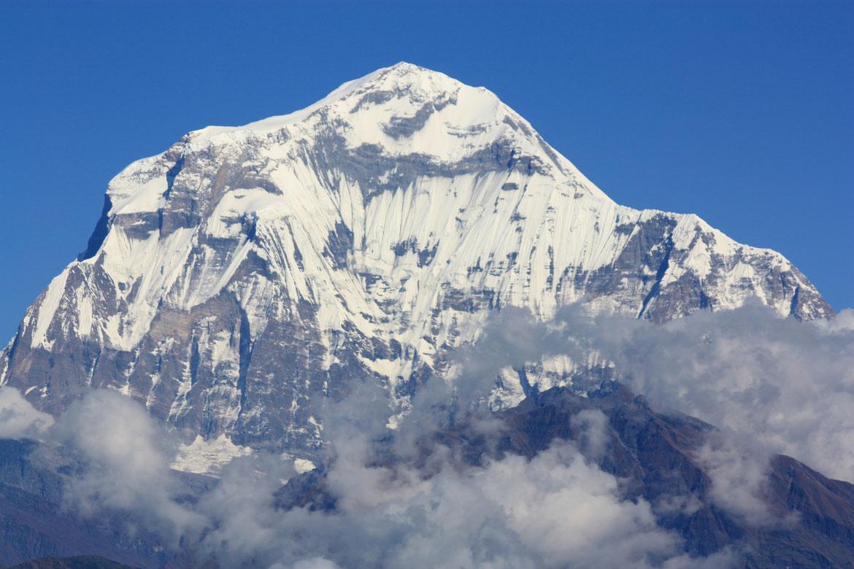 La Dhaulagiri (8 167 m) depuis Poon Hill (3193 m)
