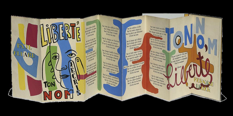 Le poème illustré par Fernand Léger (en accordéon) : cliquez pour zoomer