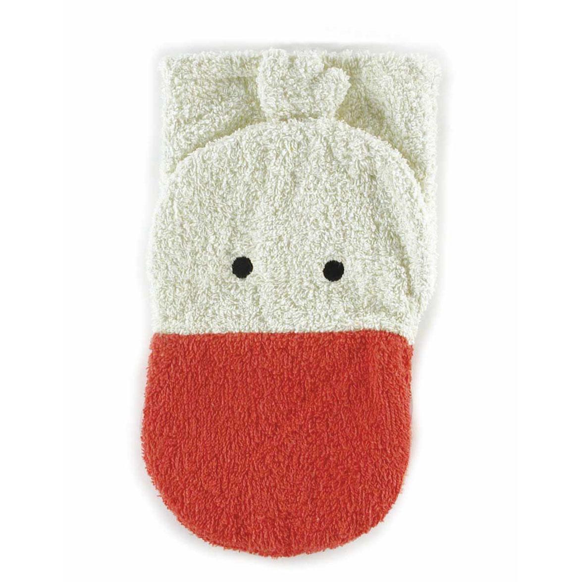 Fürnis Tier-Waschlappen Gans Bio-Baumwolle - zuckerfrei | Kids Concept Store