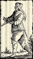 Illustration d'un sourcier. Source de l'image = Wikipédia