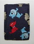 Nr.5 Hündchen blau Baumwolle