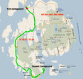Strecke 9. Tag (Microsoft Streets & Trips)