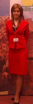 Uniforme de azafata rojo