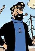 capitaine haddock le copain de Tintin et Milou fume la pipe mais pas une Louis Vuitton
