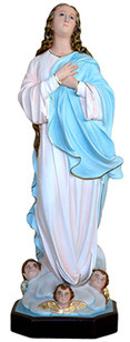 Virgin Mary assumption by Murillo statue cm. 88