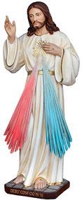 Jesus divine mercy statue cm. 80