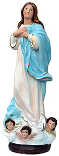 Virgin Mary assumption by Murillo statue cm. 40