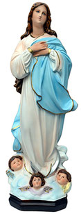 Virgin Mary assumption by Murillo statue cm. 63