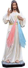 Jesus divine mercy statue cm. 120