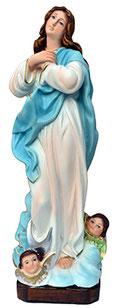 Virgin Mary assumption by Murillo statue cm. 30