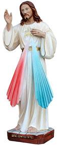 Jesus divine mercy statue cm. 30