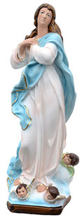 Virgin Mary assumption by Murillo statue cm. 52