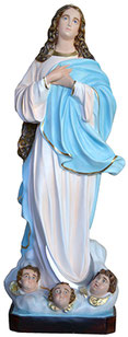 Virgin Mary assumption by Murillo statue cm. 157