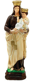Our Lady of Mount Carmel statue cm. 35
