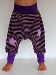 Haremshose Pumphose Nicky Streifen lila - designed by Lumpenprinzessin