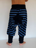 Haremshose Pumphose Nicky Streifen blau - designed by Lumpenprinzessin
