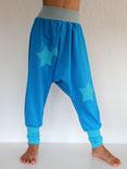 Haremshose Pumphose Jersey blau  mit Stern - designed by Lumpenprinzessin