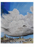 Peter Albach, Dresden, Ölmalerei, Elbe, Wolken, Kunst bilder, Landschaft, bildende Kunst, ピーターアルバッハ、ドレスデン、油絵、エルベ、雲、芸術の絵、風景、美術、Peter Albach, Dresden, oil painting, Elbe, clouds, art pictures, landscape, fine art,