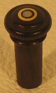 bouton ébène avec anneau or
