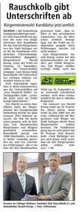 Bürgermeisterkandidat Rauschkolb übergibt Wahlvorschlag