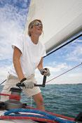Segelreise Mallorca - Ibiza Yachtcharter mit Skipperin