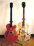 restored '64 '6120' and custom Spalt solidbody