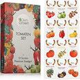 Tomaten Samen Set mit 12 Sorten Tomatensamen für Garten und Balkon Premium Tomaten Anzuchtset – Köstliche, bunte und alte Tomatensorten von OwnGrown –