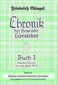 """Chronik von Siersleben Buch I Band III: """"Ackerbau Handwerk und Gewerbe in Siersleben"""" (Grünbuch)"""
