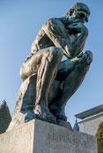"""""""Le Penseur"""" A.Rodin, 1882, Bronze, 1.80m x 0.98m x 1.45m, Luxembourg, W-C"""