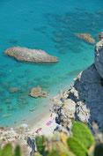 Kalabrien : kleine Bucht am Capo Vaticano, glasklares Wasser